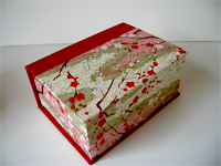 Square Box with Cherry Blossoms paper