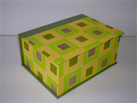 Square Box with Colorful Squares paper