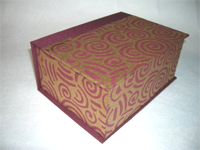 Square Funky Swirls Indian Paper Box