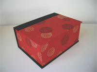 Square Box with Yuzen Golden Wheel Paper