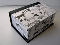 Square Box with Rock Cave Art paper