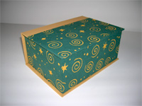 Square Box with Sun, Moon & Stars paper