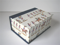 Square Box with Toy Soldiers paper