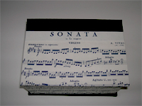 Square Box with Vivaldi Sonata paper