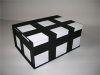 Square Box with White Squares on Black paper