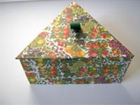 Triangular Box with Abundant Fruit paper