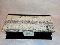 Deep Oblong Box With Visscher's View of London 1616 paper
