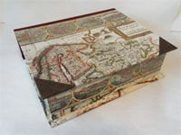 Large Rectangular Box with Willem Blaeu's Map of Europa 1643 antique map
