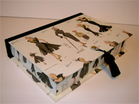 Rectangular Box with Women's Fashion paper