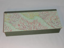 Four Compartment Box with Waving Grasses on Green Rivers Japanese paper