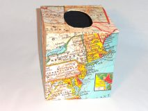 Tissue Box Cover with Map of the United States paper.
