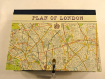 Rectangular Box with Plan of London paper