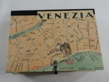 Rectangular Box with Map of Venice