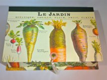 Rectangular box with Le Jardin paper
