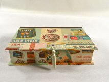 Rectangular Box with Vintage Tea Ads paper