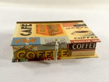Rectangular box with Vintage Coffee Ads paper