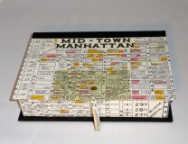 Rectangular Box with Mid-town Manhattan map paper