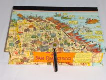 Rectangular Box with Colorful San Francisco Map Paper