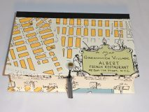Rectangular Box with Greenwich Village circa 1950 paper