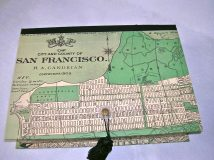 Rectangular Box with Vintage Map of San Francisco paper