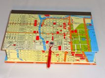 Rectangular Box with Map of Chicago paper