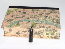 Rectangular Box with Paris Monuments Map paper