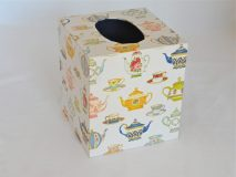 Tissue Box Cover with Vintage Chine patterns paper