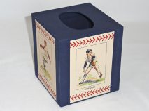 Tissue Box Cover with Baseball players paper