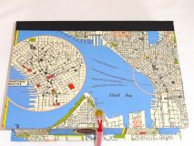 Rectangular Box with Map of Seattle, Washington paper