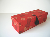 Oblong Box with Golden Wheel paper