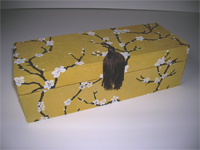 Oblong Box with Peach Blossom paper